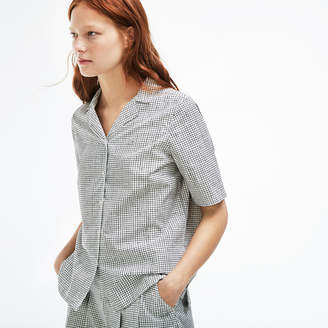 Lacoste (ラコステ) - プリント ポプリン シャツ (半袖)