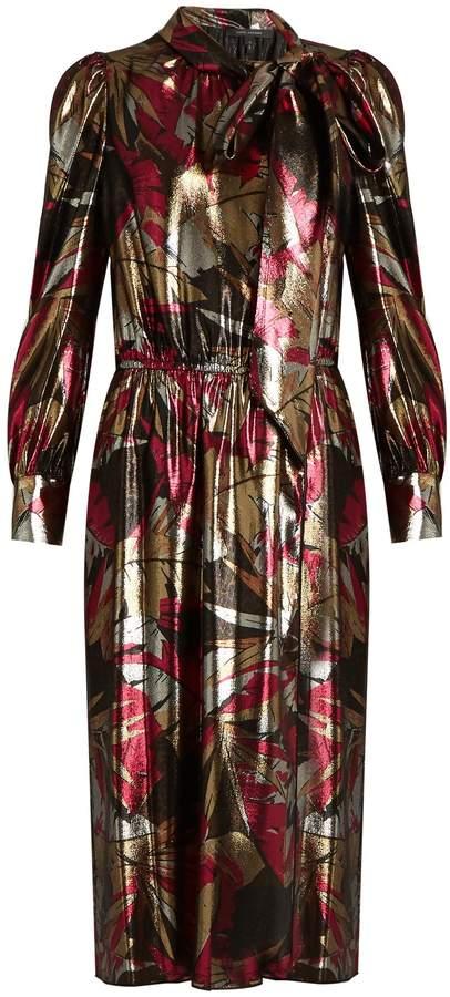 Marc JacobsMARC JACOBS Palms silk-blend lamé dress