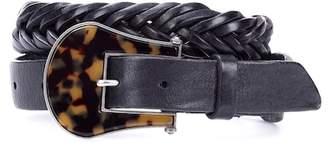 Golden Goose Tube braided leather belt