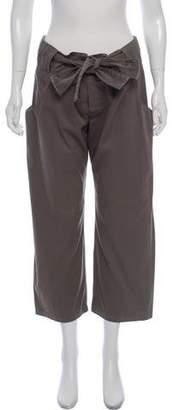 Marni Mid-Rise Cropped Wide-Leg Pants