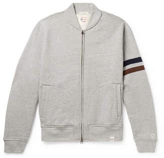 Todd Snyder Kingsman + + Champion Harry's Fleece-back Cotton-blend Jersey Zip-up Sweatshirt