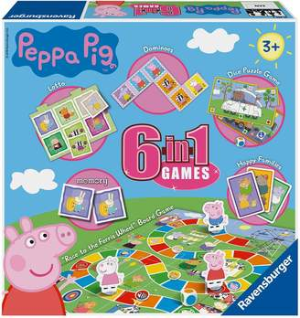 Very Ravensburger Peppa Pig 6 in 1 Games Box