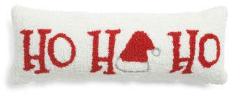 8x22 Ho Ho Ho Hand Hooked Pillow