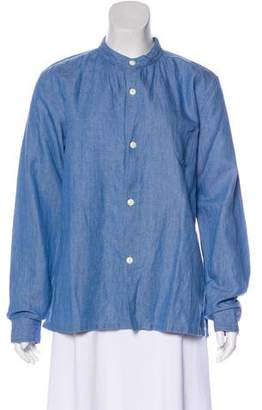 Chimala Chambray Button-Up Top