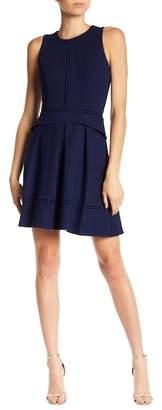 Adelyn Rae Hadyn Crochet Dot Fit & Flare Dress