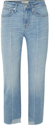 Madewell Cruiser Distressed Mid-rise Straight-leg Jeans - Light denim