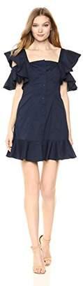 KENDALL + KYLIE Women's Ruffle Sleeve Dress