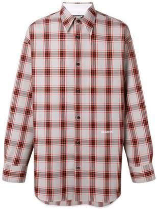 Calvin Klein logo plaid shirt