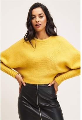 Dynamite Crop Dolman Sleeve Sweater Solar Beam