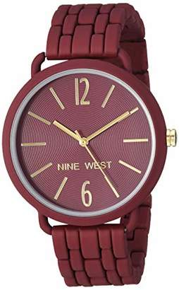 Nine West Women's NW/2148BYBY Rubberized Bracelet Watch