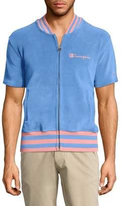 Champion Sponge Terry Stripe Full Zip Sweatshirt