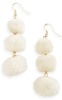Shiraleah January Pom Earrings