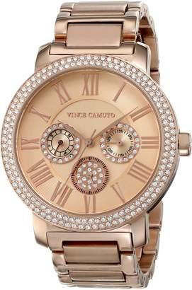 Vince Camuto Women's VC/5000RGRG Swarovski Crystal-Accented Multi-Function Bracelet Watch