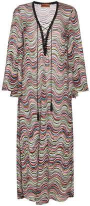 Missoni Lamé Wave Long Beach Dress