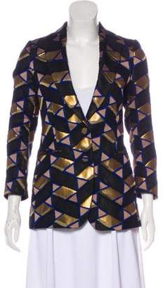 Dries Van Noten Printed Structured Blazer