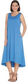 Joan Rivers Classics Collection Joan Rivers Regular Jersey Knit Midi Dress withHi-Low Hem