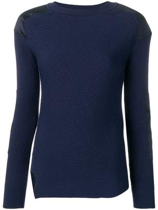 Sportmax panelled ribbed jumper