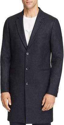 Paul Smith Plaid Long Overcoat