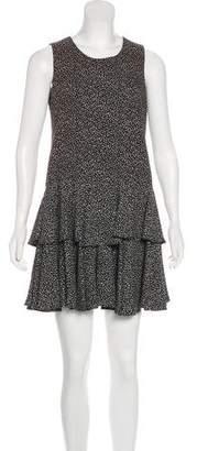 Saint Laurent Crepe Printed Dress