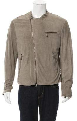 Giorgio Armani Perforated Suede Moto Jacket w/ Tags