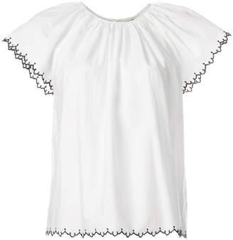 Ulla Johnson embroidered-hem blouse