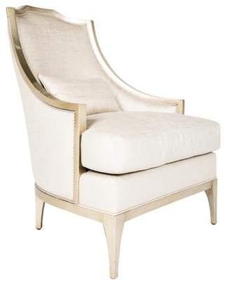 Metallic-Upholstered Slipper Chair