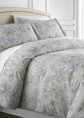 SOUTHSHORE FINE LINENS King/California King Sized Luxury Premium Collection Oversized Duvet Cover Set - Vintage Garden Sandy Grey