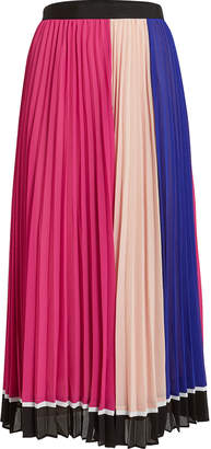 Self-Portrait Self Portrait Multi Striped Chiffon Skirt