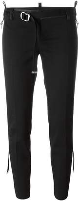 DSQUARED2 slim belted cropped trousers