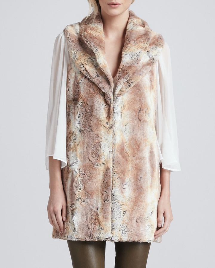 Alice + Olivia Annistyn Long Faux-Fur Vest