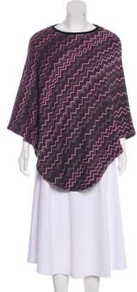Missoni Patterned Knit Poncho