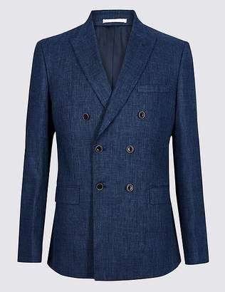 Marks and Spencer Linen Miracle Tailored Fit Textured Jacket