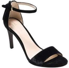 Cole Haan Clara Velvet Ankle Strap Sandals