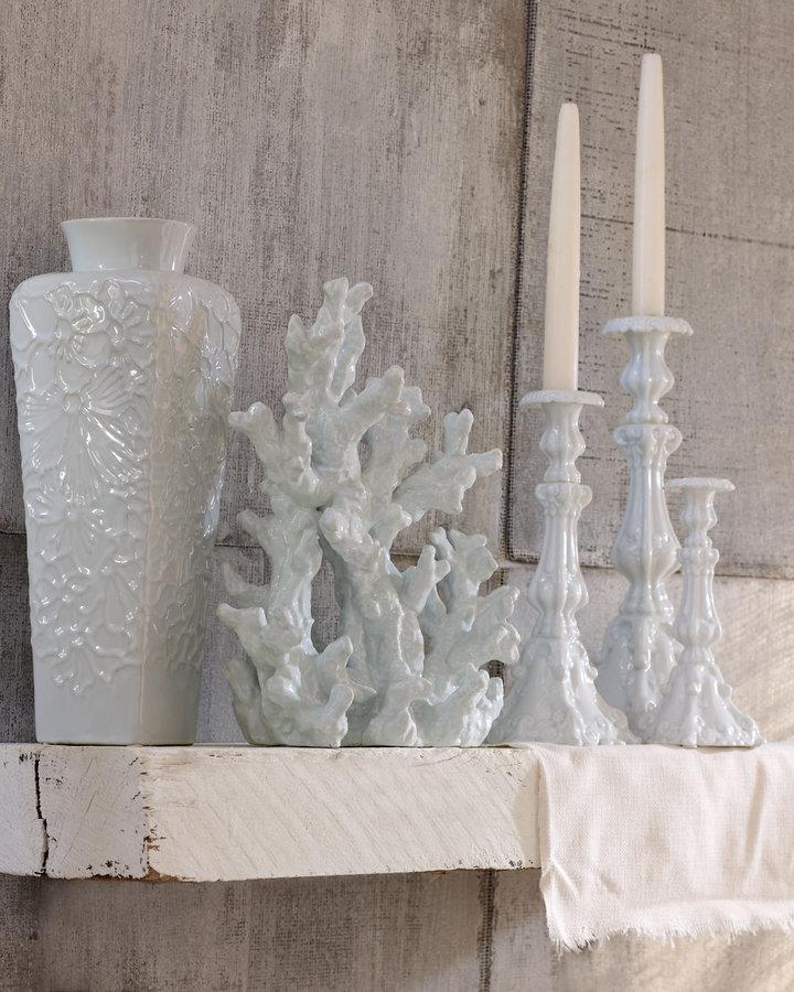 Horchow Porcelain Coral Sculpture