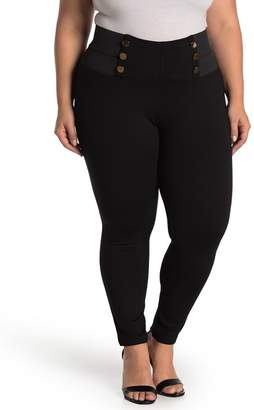 ELOQUII Miracle Flawless Button Front Leggings (Plus Size)