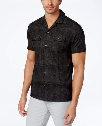 INC International Concepts I.n.c. Men's Camp-Collar Dot-Pattern Shirt, Created for Macy's