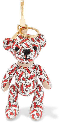 Burberry Printed Leather Bag Charm - Red