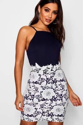 boohoo Boutique Lace Crochet Bodycon Dress