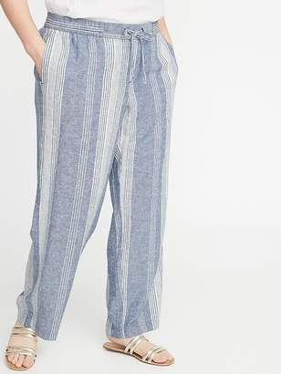 711e7ec11c8c4 Old Navy Mid-Rise Plus-Size Wide-Leg Linen-Blend Pants