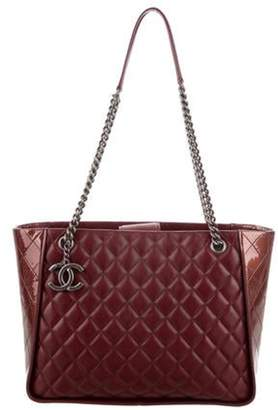 Chanel Leather Large Shopping Tote silver Leather Large Shopping Tote