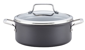 Anolon5QT. Authority Hard-Anodized Non-Stick Covered Dutch Oven