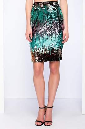 Endless Rose Sequins Midi Skirt