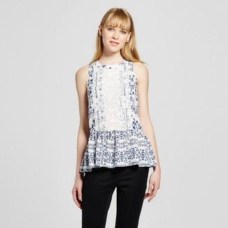 Layered with Love Women's Lace Front Printed Tank $36.99 thestylecure.com