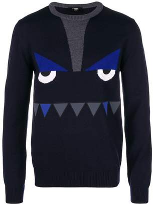 Fendi printed monster face sweater
