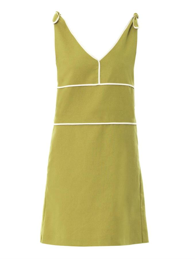See by Chloe Linen and cotton-blend shift dress