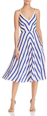 Milly Monroe Striped Midi Dress
