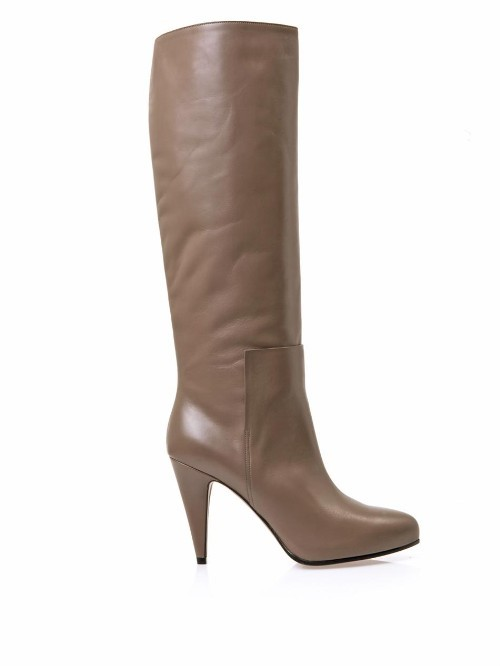 Balenciaga New Easy leather knee-high boots
