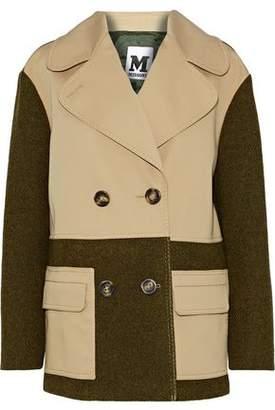 M Missoni Double-Breasted Gabardine-Paneled Wool Jacket