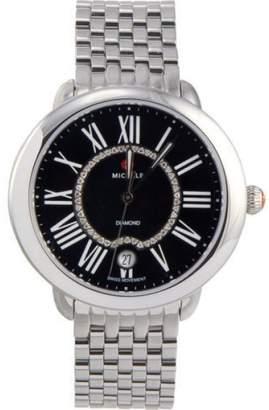 Michele MWW21B000026 Serein 16 0.11 ct Diamonds Black Dial Swiss Quartz Womens Watch