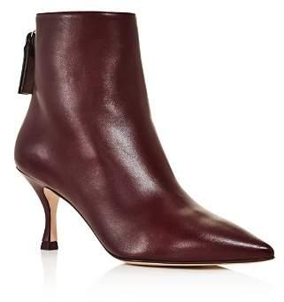 Stuart Weitzman Women's Juniper 70 Leather Pointed Toe Booties